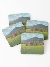 """Sumner Meadow"" oil painting by Reed Prescott Coasters"