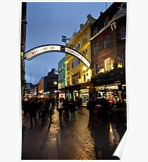 Carnaby St after dark Poster