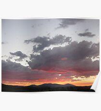 Sunset Over Klamath Falls Poster