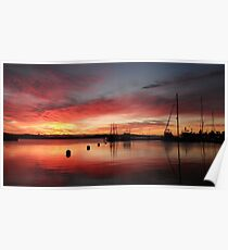 Sunrise at Franklin Wharf Poster