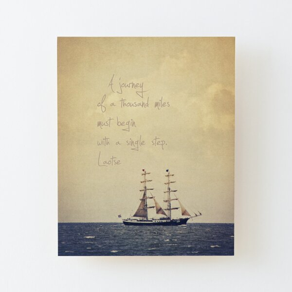 Sailing Wood Mounted Print
