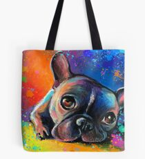 Whimsical French Bulldog painting Svetlana Novikova Tote Bag
