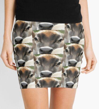 Cow  Eyes Mini Skirt