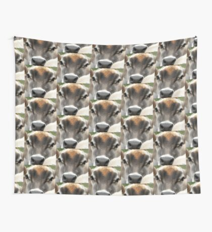 Cow  Eyes Wall Tapestry