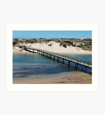 Port Noarlunga Foot Bridge Art Print