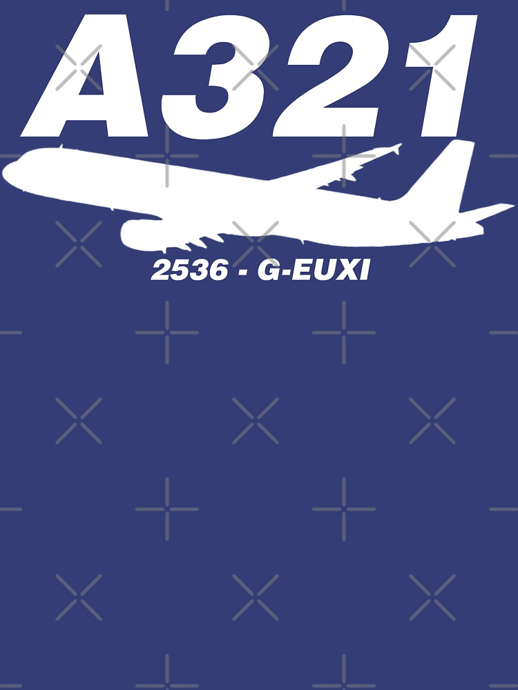 A321 2536 G-EUXI (White Print) by AvGeekCentral