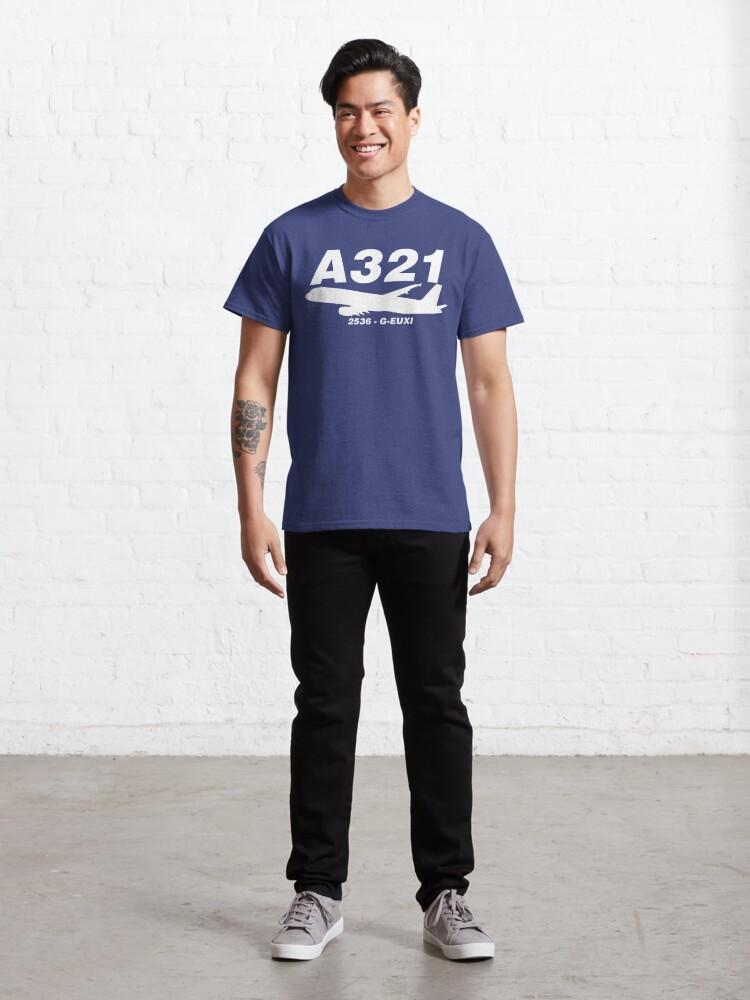 Alternate view of A321 2536 G-EUXI (White Print) Classic T-Shirt