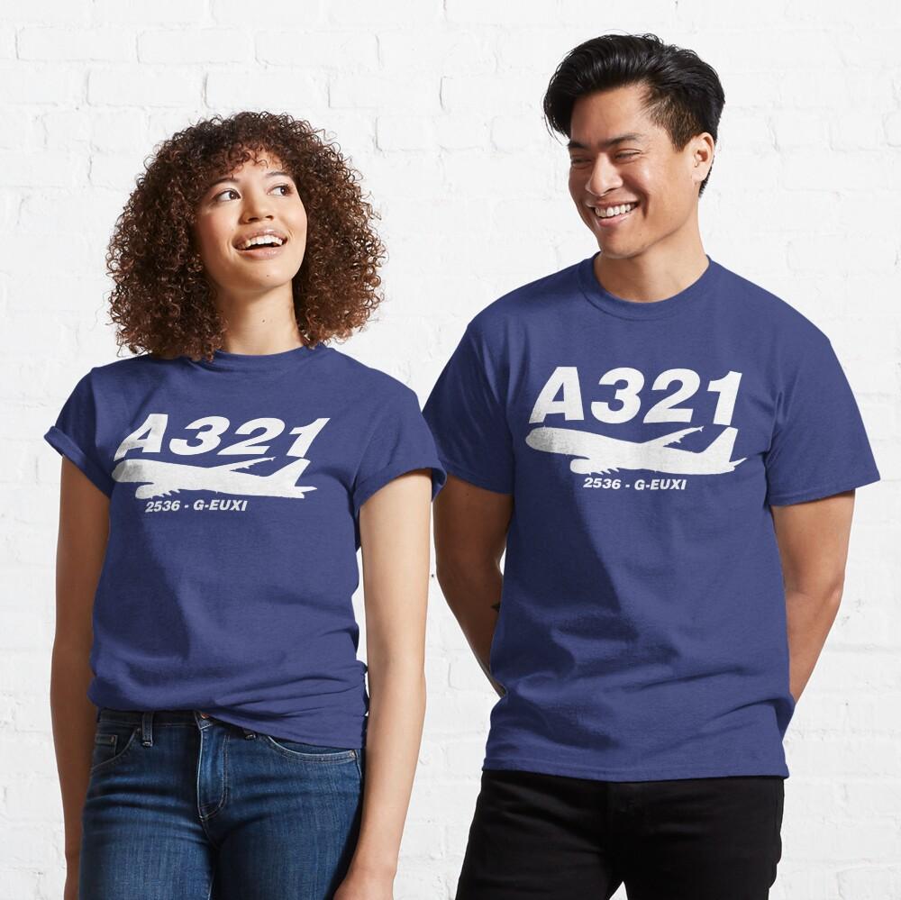 A321 2536 G-EUXI (White Print) Classic T-Shirt