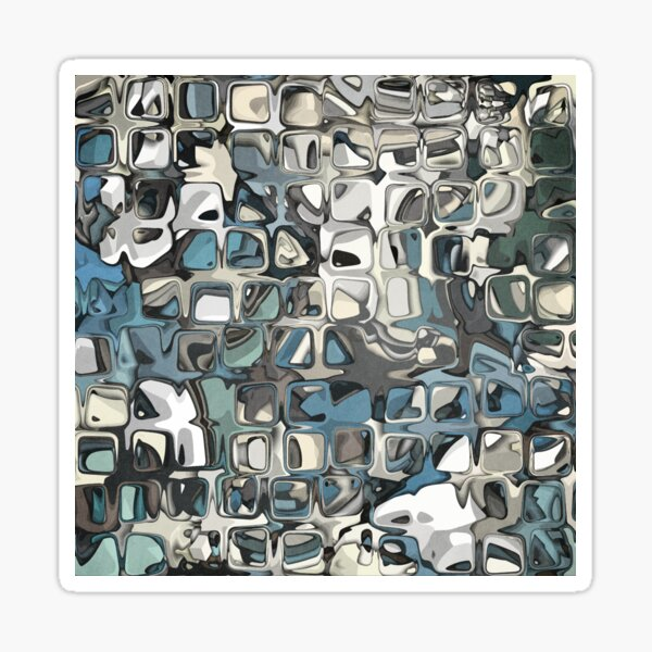 Textured Geometric Abstract 1 Sticker