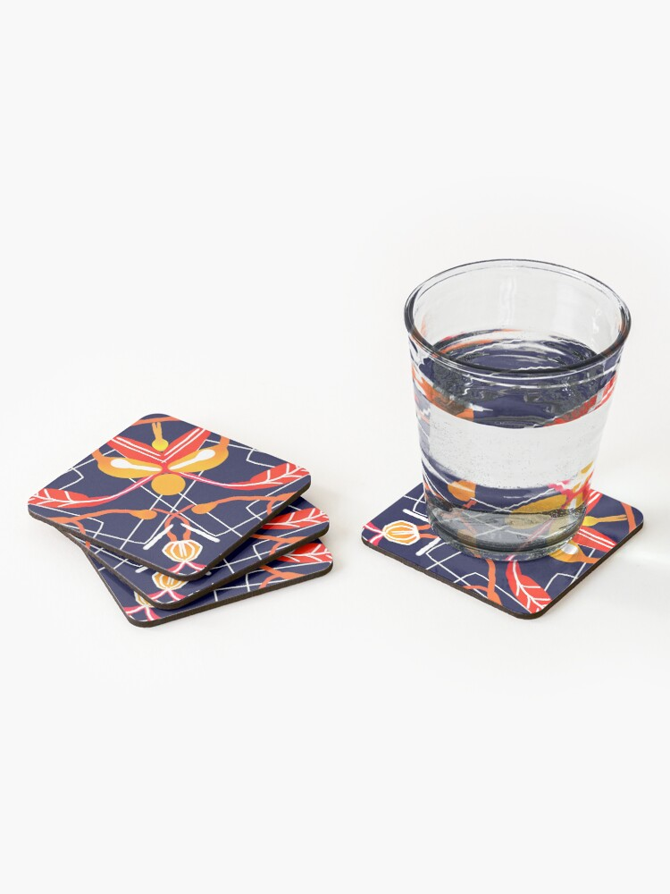 Alternate view of Sunset orchid Coasters (Set of 4)