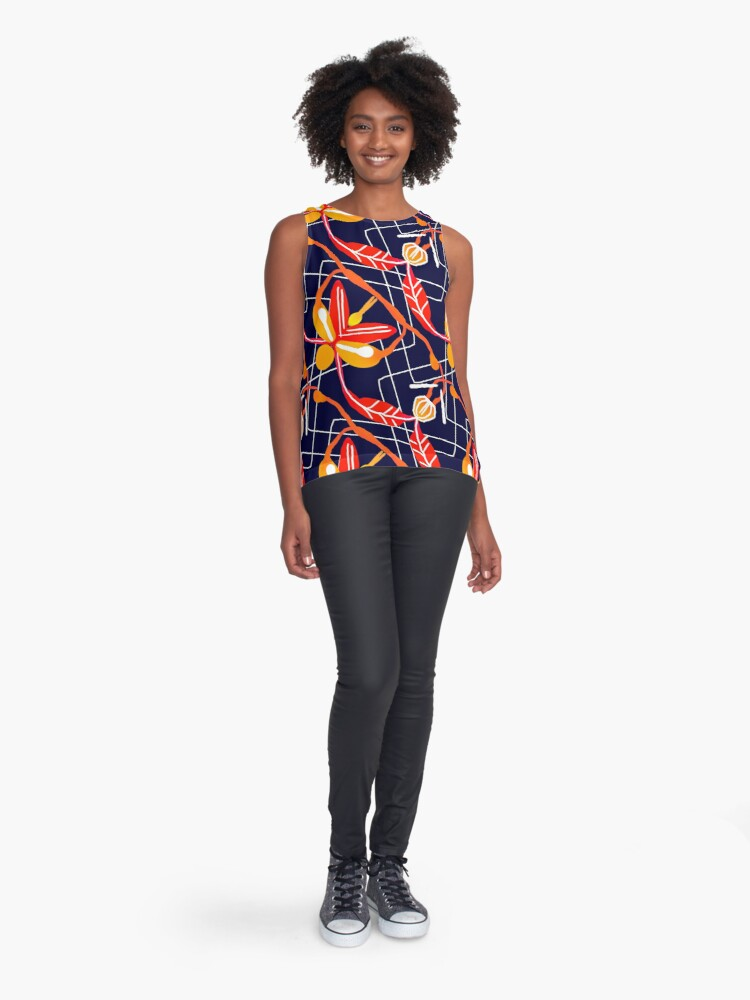 Alternate view of Sunset orchid Sleeveless Top