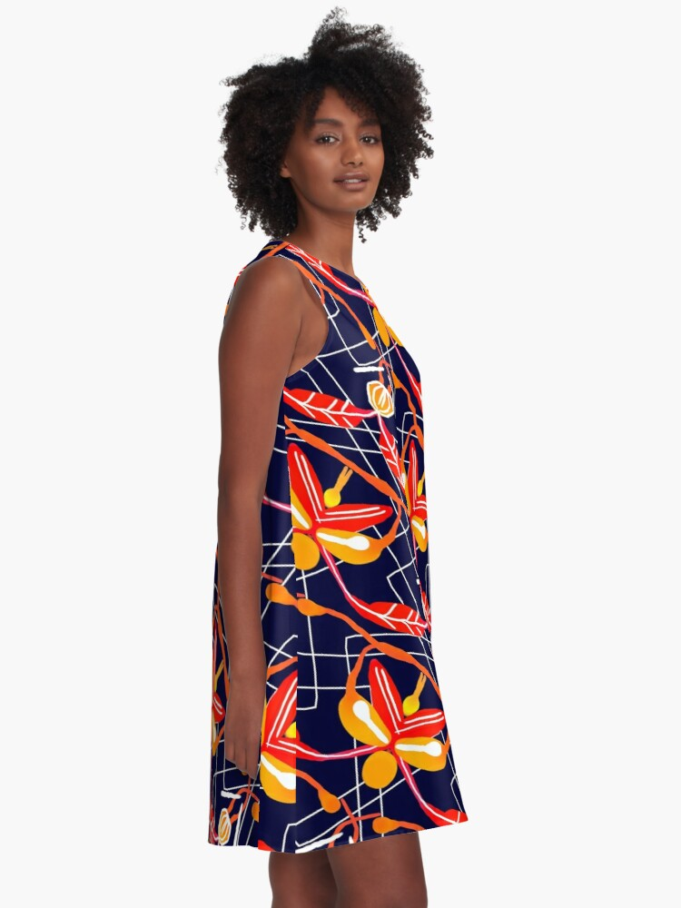 Alternate view of Sunset orchid A-Line Dress