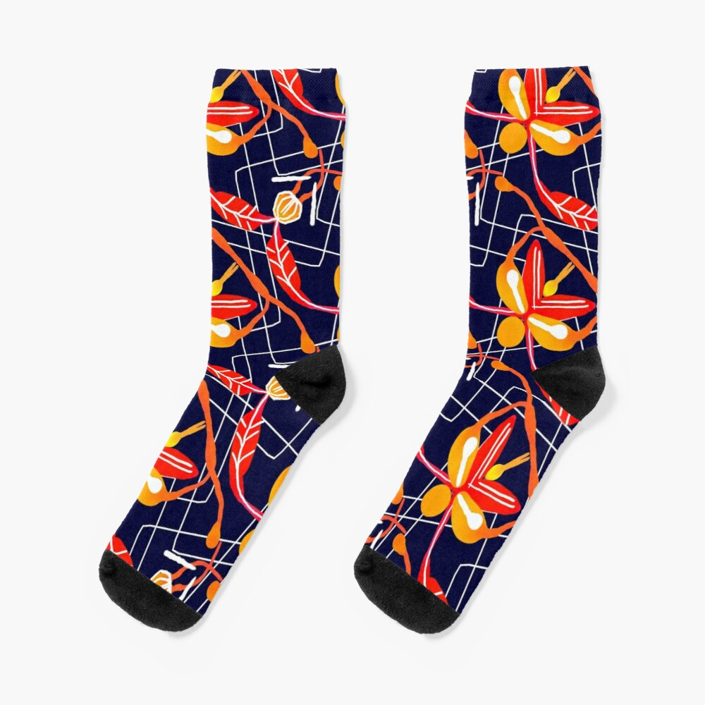 Sunset orchid Socks