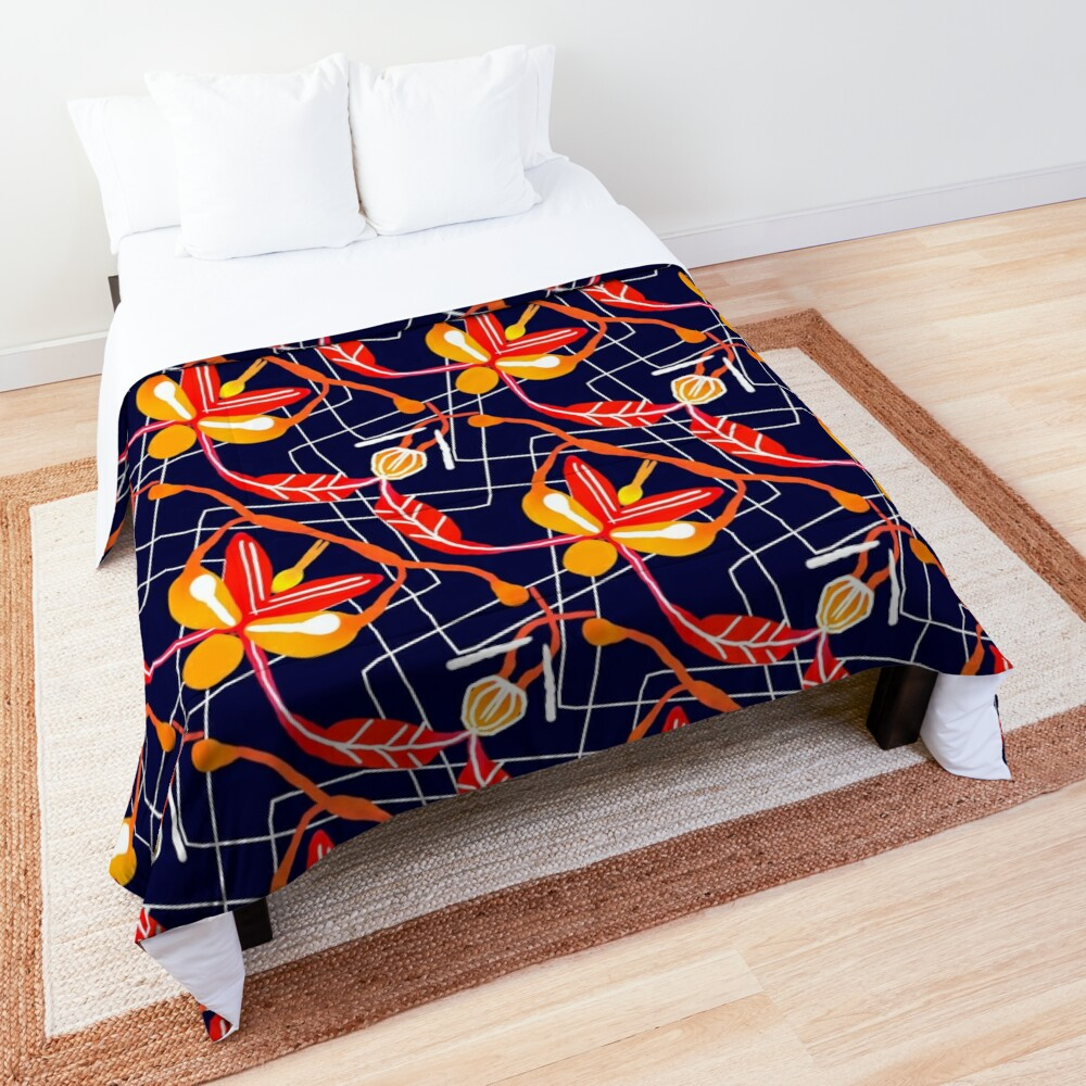 Sunset orchid Comforter