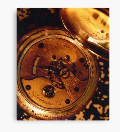 Antique Watch Innards Canvas Print