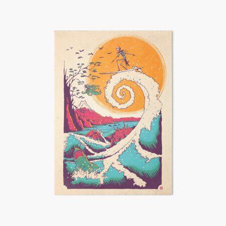 Surf Before Christmas Art Board Print