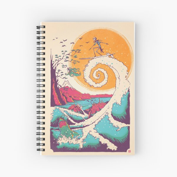 Surf Before Christmas Spiral Notebook