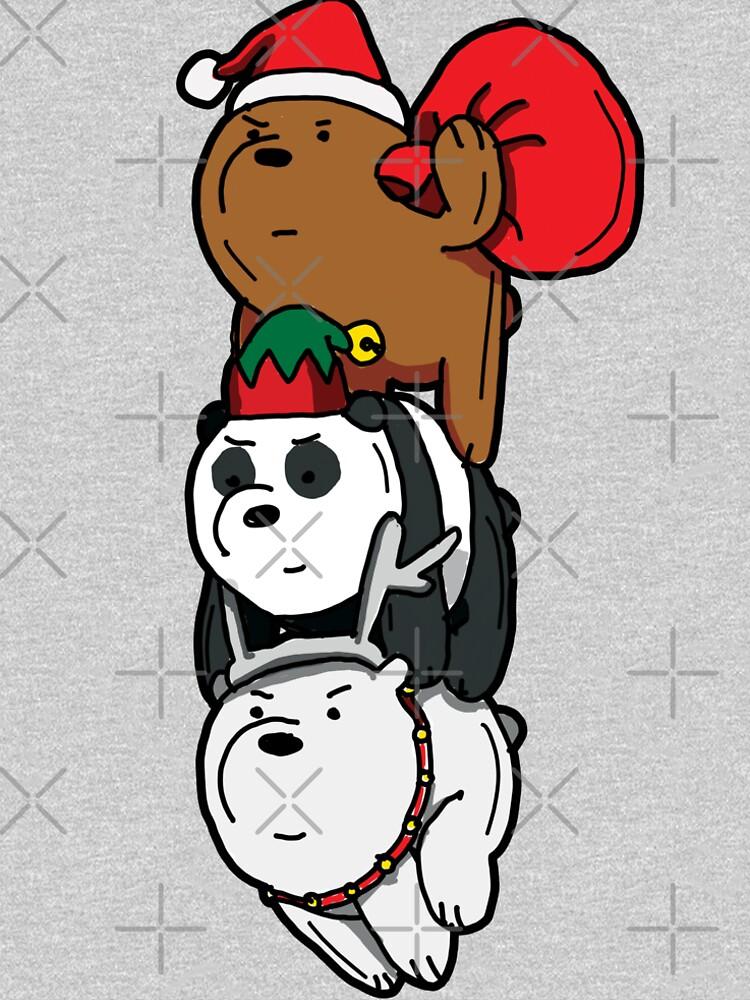 We Bare Bears™ Christmas Themed Bears by sketchNkustom