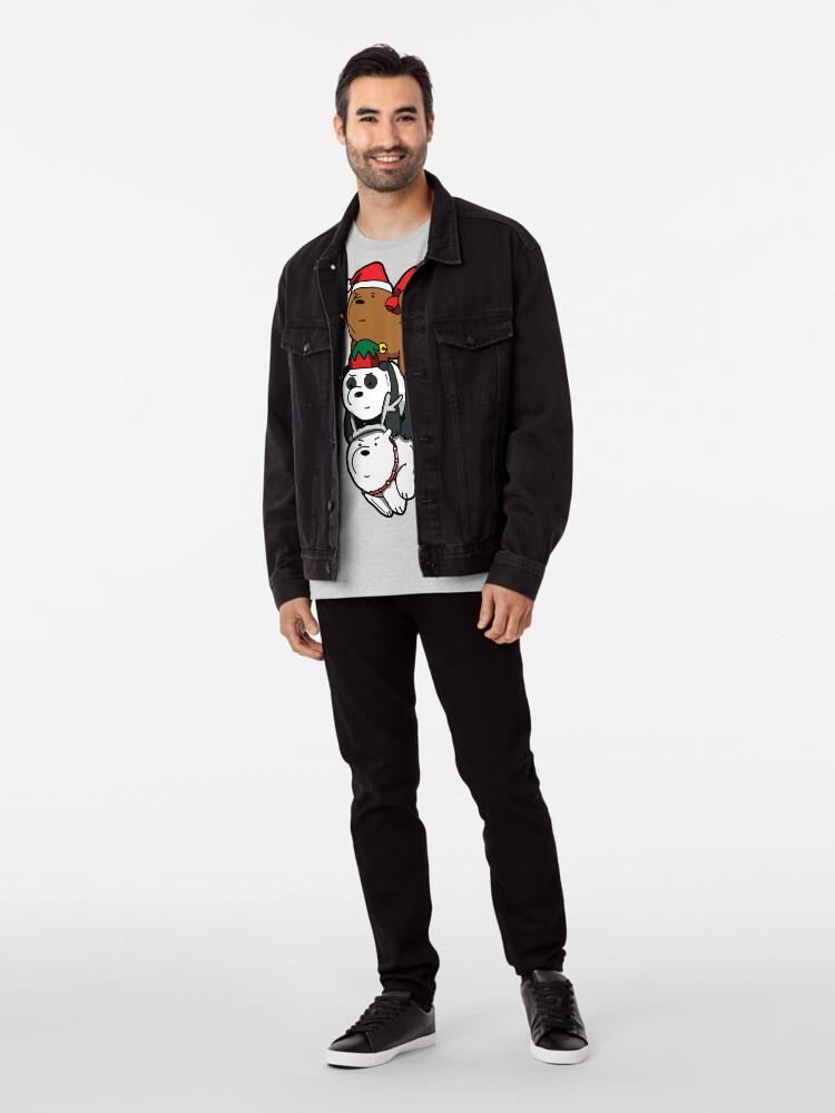 Alternate view of We Bare Bears™ Christmas Themed Bears Premium T-Shirt