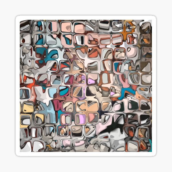 Textured Geometric Abstract 2 Sticker