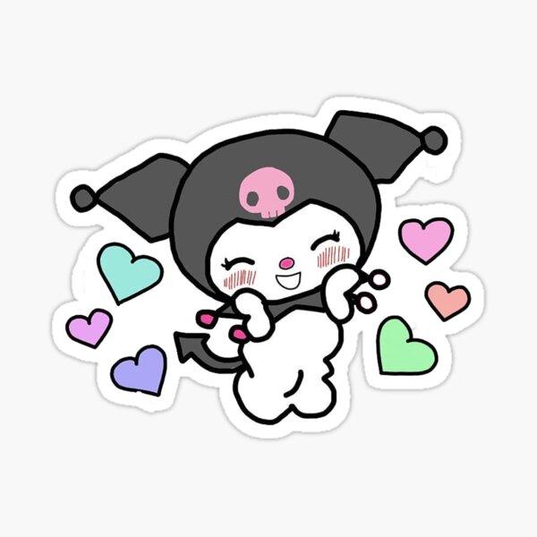 Blushing Kuromi  Sticker
