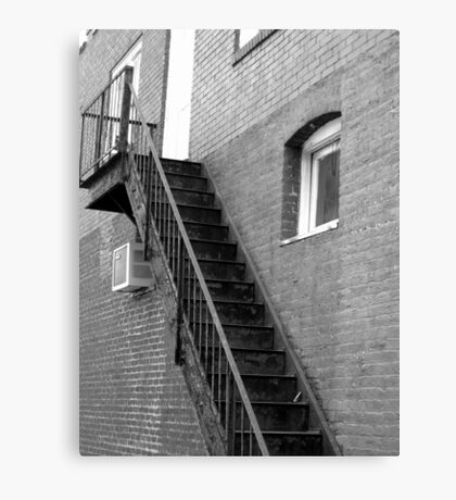 Old Fire Escape - Mars Hill, N.C. Canvas Print
