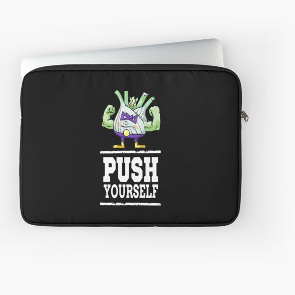 Push Yourself Funk Up Fennel Double Bicep Bodybuilder Laptop Sleeve