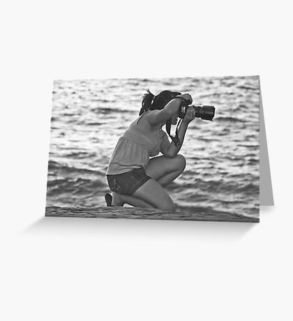 Shooting at the Beach Greeting Card