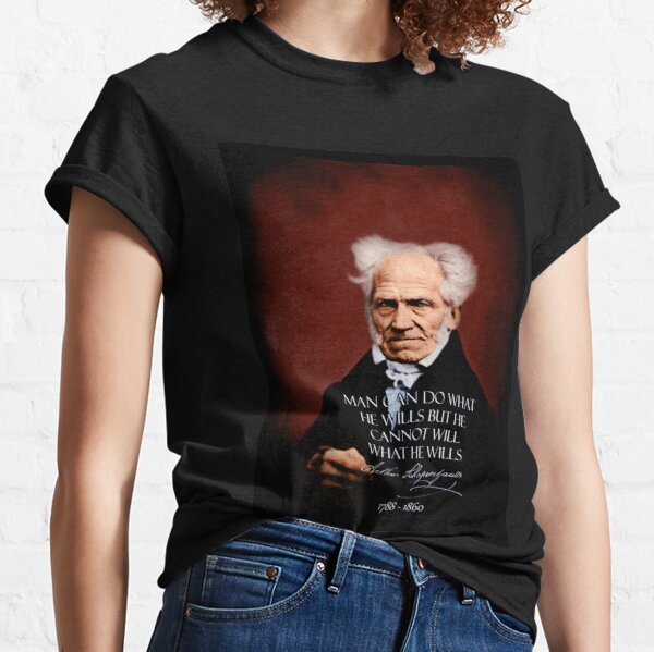 Schopenhauer~FREE.WILL~retouched~BEST.QUALITY~Colorized~Dunkelrot Classic T-Shirt
