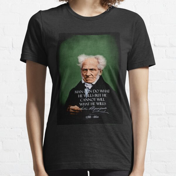 Schopenhauer~FREE.WILL~retouched~BEST.QUALITY~Colorized~Grün Essential T-Shirt