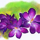 Alison Orr's 'Purple Crocuses' by Art 4 ME