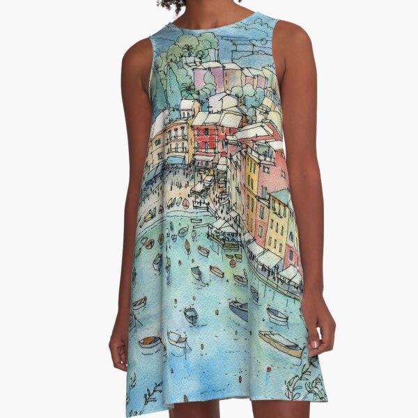 Portofino, Italy A-Line Dress
