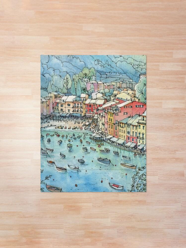 Alternate view of Portofino, Italy Comforter