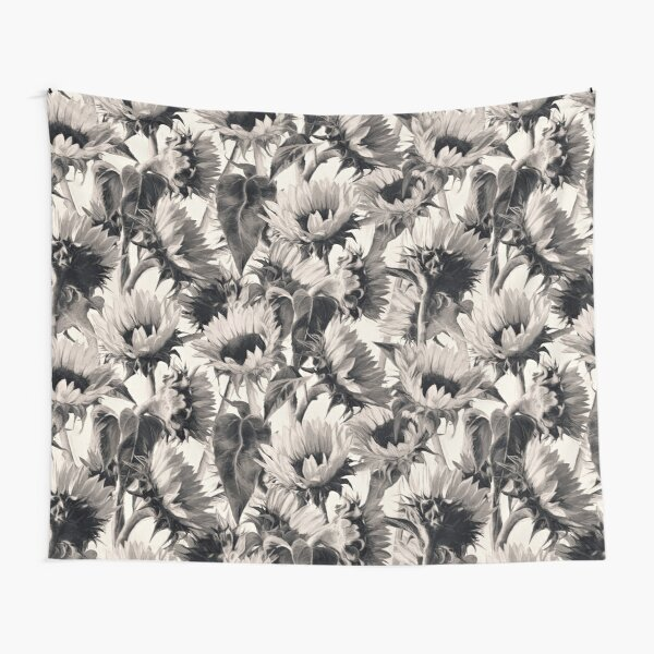 Sunflowers in Soft Sepia Tapestry