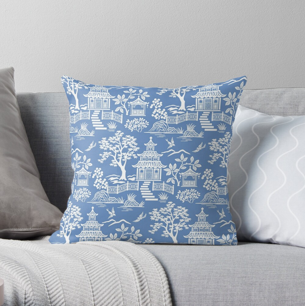 Chinoiserie Pagoda Throw Pillow