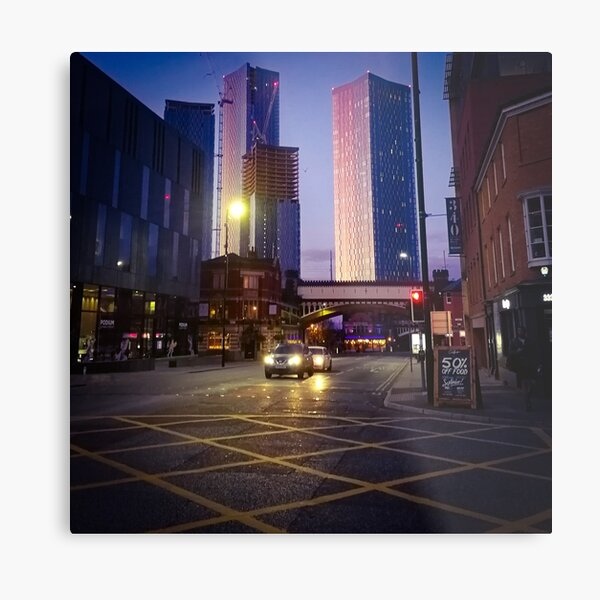 Colourful sunrise in Manchester Metal Print