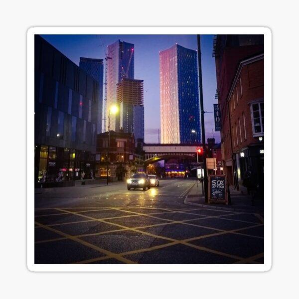 Colourful sunrise in Manchester Sticker