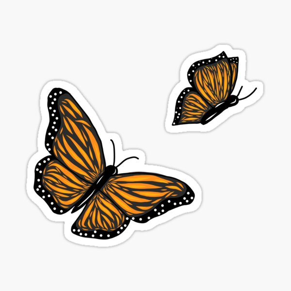 Flying butterfly's around you Sticker