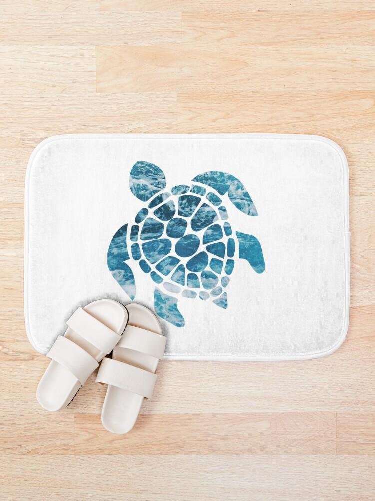 Alternate view of Ocean Sea Turtle Bath Mat