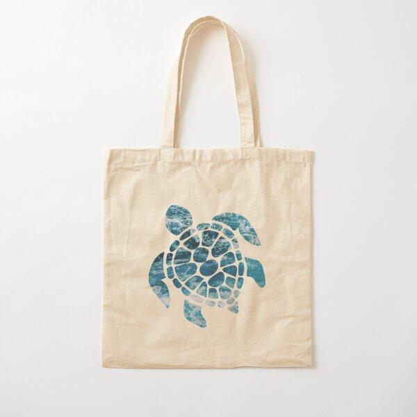 Ocean Sea Turtle Cotton Tote Bag