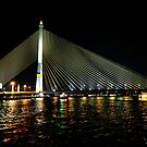 Bridge Under Lights - Bangkok. by Alwyn Simple