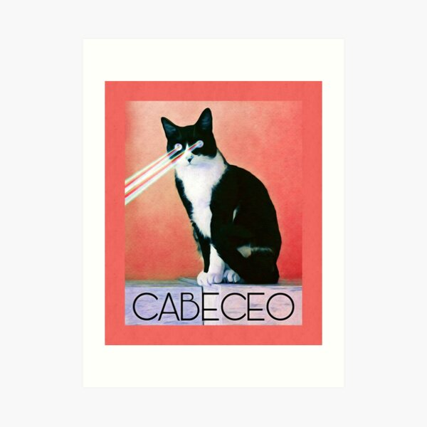 Cabeceo with Laser Cat Eyes Art Print