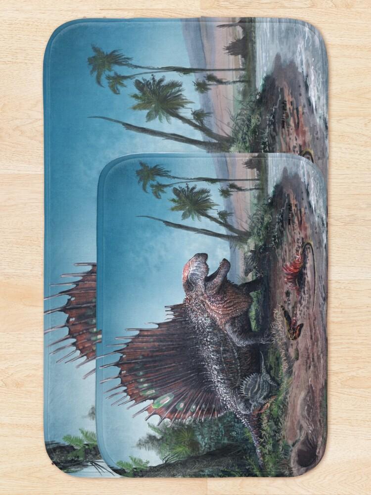 Alternate view of Dimetrodon  Bath Mat