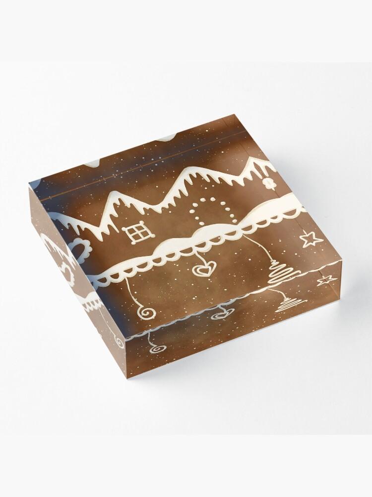 Alternate view of Gingerbread street Acrylic Block