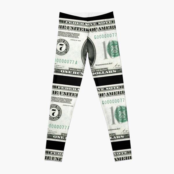 Old School 100 (Hundred) Dollar Bill Leggings
