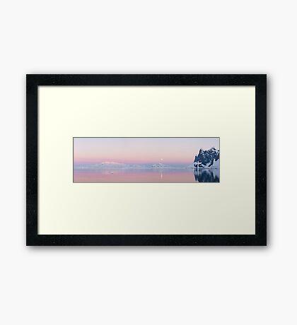Moonrise, Lemaire Channel, Antarctic Framed Print