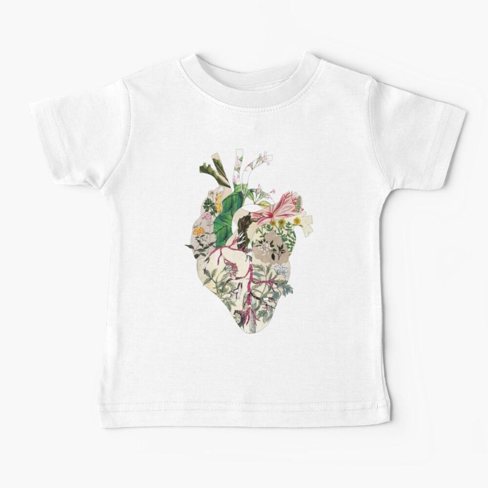 Vintage Botanical Heart - sunshine Baby T-Shirt