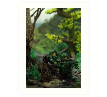 Lego jungle spec op Art Print