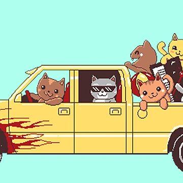 Cat wagon by pijaczaj