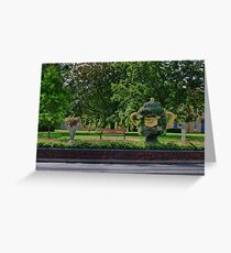 Rugby world cup flowers Greeting Card